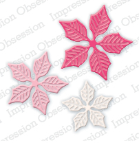 Pre-Order Impressions Obsessions Dies - Sm. Poinsettia Set