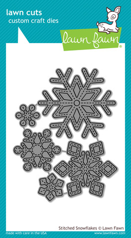 Pre-Order Lawn Fawn - Stitched Snowflakes - lawn cuts - Click Image to Close